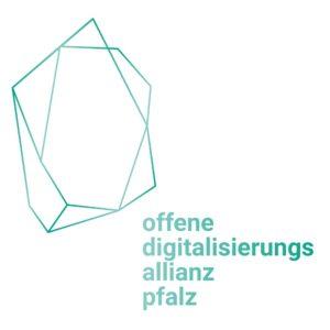 Logo der offene digitalisierungs allianz pfalz in der Farbe Türkis