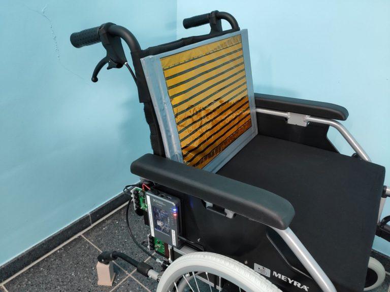 Rückenlehne mit Sensormatrix